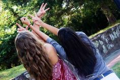 Throw up some gang signs. | 37 Impossibly Fun Best Friend Photography Ideas