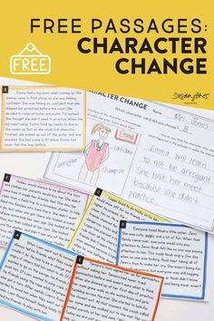 These activities and passages are great to show students that characters in our stories change and develop over time! Head on over to the post to try a bunch of FREE passages!