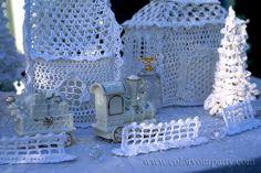 Crochet Christmas Village