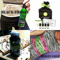 ⚫️◾️⚫️ BLACK FRIDAY BOGO SALES! ⚫️◾️⚫️  Buy One, Get One FREE on...   ▪️B O D Y  W R A P S ▪️F A T  F I G H T E R S  ▪️C L E A N S E ▪️E S S E N T I A L  O I L S  S E T  💚  COMMENT below and I'll send you more info 💋  #BlackFriday #BuyOneGetOneFree #Giveaway