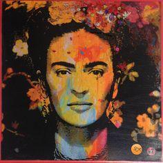 Canvas 30x30 cm , collage Frida Face