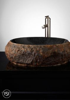 The Roughly Textured Exterior On The Ridge Natural Stone Vessel Sink Is A  Striking Contrast To The Smoothly Polished Interior. Add This Unique Sink  To Your ...