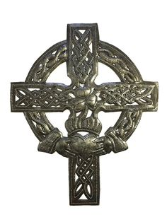 Small Celtic Wall Cross 7' x 9' -- See this great product-affiliate link. #WallSculptures