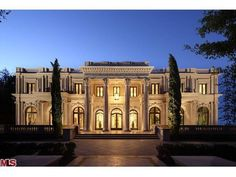 A beautiful new French Beaux's Arts style limestone mansion on Sunset Boulevard in Beverly Hills, California 90210