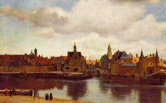 J. Vermeer, Veduta di Deft, 1660, olio su tela, Mauritshuis, L'Aja