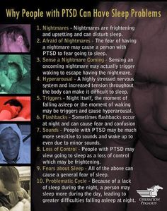Pretty much basic knowledge. PTSD effects everyone differently. Some I know that have experienced traumatic events say they aren't affected by PTSD. Really? Hmmm. What is it you're trying to numb every night then?