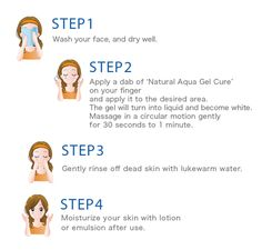Directions for use-Natural Aqua Gel Cure|TOYO-NET.JAPAN