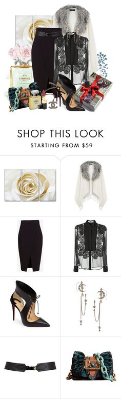 """Без названия #982"" by perelka111 ❤ liked on Polyvore featuring Chanel, Dorothy Perkins, Guide London, Nicholas, Givenchy, Christian Louboutin, Alexander McQueen, Maison Boinet and Burberry"