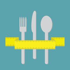 Fork knife and spoon with measuring tape ribbon. Menu cover - ilustração de arte em vetor