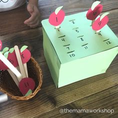How To Produce Elementary School Much More Enjoyment Matching Numbers - Apple Picking Activity Math Activities For Toddlers, Numeracy Activities, Cognitive Activities, Fun Fall Activities, Kindergarten Activities, Preschool Apple Activities, Numbers Preschool, Numbers For Toddlers, Math Numbers