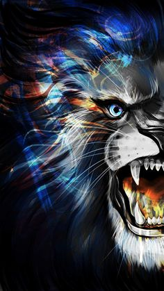 Angry Lion iPhone Wallpaper - iPhone Wallpapers