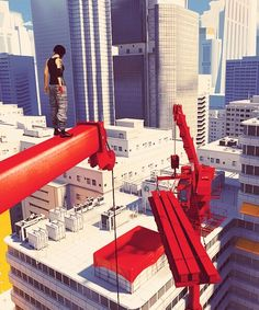 Mirror's Edge is similar to Sunset Overdrive in its visuals.they are both vibrant and both use certain colors to make objects stand out.this is what i wold like to do to some parts of my game.