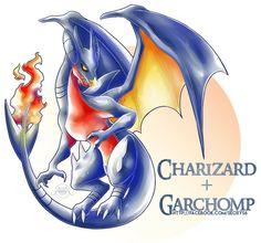 Charizard X Garchomp by Seoxys6.deviantart.com on @DeviantArt - Visit now for 3D Dragon Ball Z compression shirts now on sale! #dragonball #dbz #dragonballsuper
