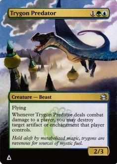 Altered MTG card art Trygon Predator From Modern Masters - artist rafarafael10