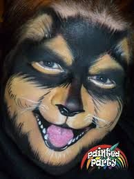 Dog #facepaint by Denise Cold at Painted Party