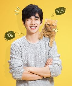Imaginary Cat - a sweet little mini drama starring Yoo Seung Ho and this cat which he clearly adores. Yoo Seung Ho, Korean Celebrities, Korean Actors, Korean Dramas, Master Of Study, Child Actors, Korean Entertainment, Korean Star, Lee Jong Suk