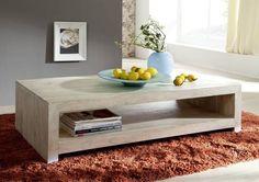 WHITE WOOD konferenční stolek lakovaný akátový nábytek