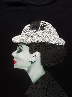 Audrey Hepburn T-shirt Painted 3d by Quortshirts