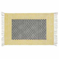 Tapis en coton noir/blanc 60 x 90 cm MEDAN