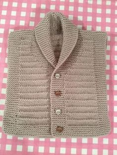 Örgü Modelleri Shawl collar boy child vest Photos in the Drawer Photos taken on special occasions will disappear after a while in the dusty environmen. Baby Boy Knitting Patterns, Knitting For Kids, Crochet For Kids, Knit Patterns, Crochet Baby, Knit Crochet, Cute Red Dresses, Baby Pullover, Baby Vest