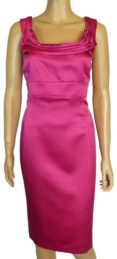 87439f227cf Antonio Melani Pink Satin Sheath Short Cocktail Dress Size 12 (L). Free  shipping