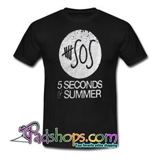 5 Seconds of Summer Rock Trending T-Shirt NT 5secondsofsummer, 5 Sos, Summer Tshirts, 5 Seconds, Direct To Garment Printer, Shirt Style, Size Chart, Writing, Rock