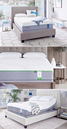 enjoy seemingly endless ergonomic positions or even a relaxing massage with a tempurpedic adjustable bed