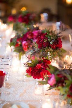 Holiday wedding flowers: http://www.stylemepretty.com/california-weddings/montecito/2014/12/23/elegant-san-ysidro-ranch-holiday-wedding/ | Photography: Melissa Musgrove - http://www.melissamusgrove.com/