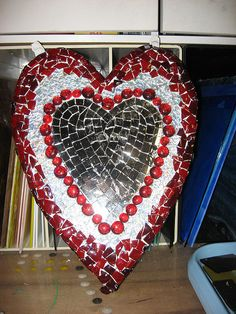 Heart WIP by Elsieland Mosaics, via Flickr