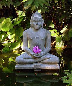 Buddha in Marie Selby Botanical Gardens, Sarasota, Florida