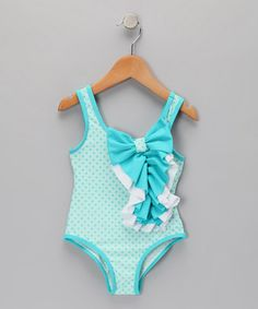 Floatimini Girls 2 piece Swimsuit Halter Tankini Size 4 5 6 Red White Polka Dot
