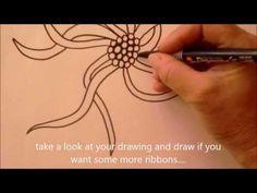 How to draw tanglepattern Squid by Certified Zentangle Teacher Ellen Wolters