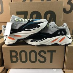 51db4c93438 2018 Adidas Originals Yeezy Boost 700 Kanye West Best Quality Classic  Running Shoes Wave Runner 700 Boosts Sports Shoes Fashion Sneaker With Box  From ...