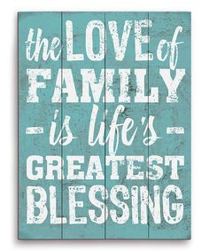 Look at this #zulilyfind! Blue 'Greatest Blessing' Wood Wall Art #zulilyfinds