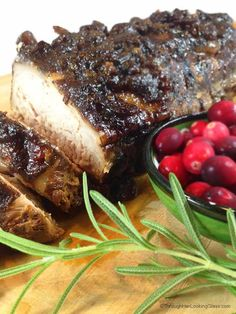 Easy Slow Cooker Cranberry Crusted Dijon Pork Roast. 5 minutes of prep. Sweetness from whole berry cranberry sauce and cranberry juice. Dry mustard gives a little zing!