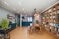 Home Library Design, Japanese Interior, Humble Abode, Home Organization, My Room, Bookshelves, New Homes, Living Room, Interior Design