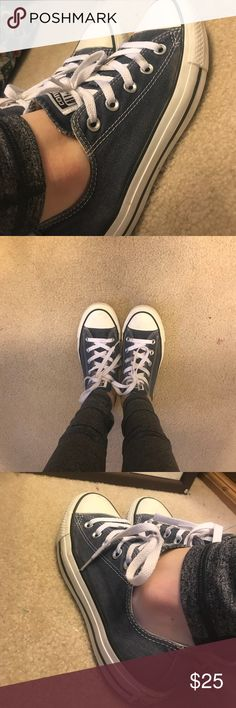 Converse Slightly faded navy converse size 6 Converse Shoes