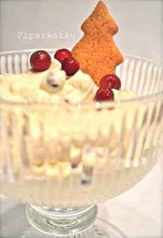 Piparkakku: Jouluinen jälkkäri Yams, Sweet And Salty, Something Sweet, Christmas Baking, Sweet Recipes, Good Food, Food And Drink, Pudding, Favorite Recipes
