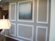 How to decorate a long wall in the living room using wall trim and ...