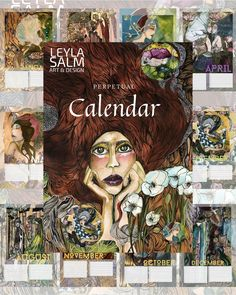 Perpetual Birthday Calendar, Large Format, Online Gallery, December, Design, Art, Craft Art, Kunst