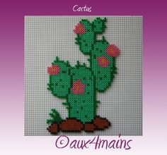 Cactus hama perler by aux4mains