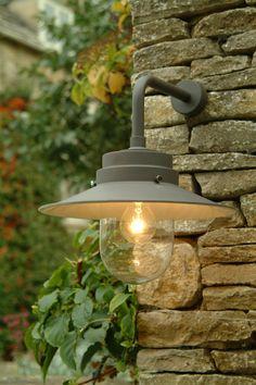 Belfast Light in Coffee - Contemporary Outdoor Garden Wall Lighting