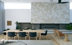 Cottesloe Home - Philippa Mowbray Architects Neutral Room, House, Colorful Interiors, Interior, Home, Fireplace Feature Wall, Interior Architecture, Interior Color Schemes, Open Plan Living