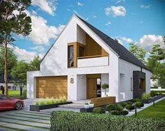 Zdjęcie projektu Riko III G2 energo WRC2658 Minimal House Design, Classic House Design, Minimal Home, Dream House Plans, Modern House Plans, Style At Home, Architectural House Plans, Modern Mansion, Mansions Homes