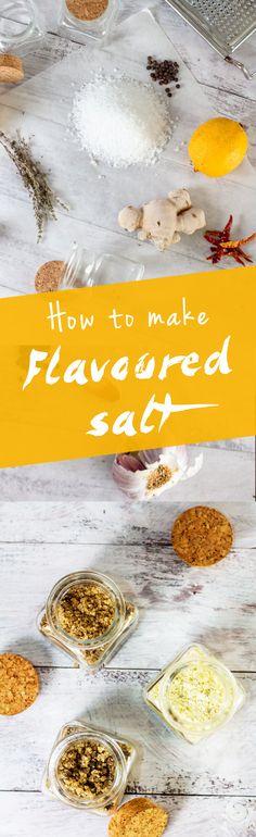 Learn how to make flavored salts. www.haveanotherbite.com | #flavor #salt #recipe