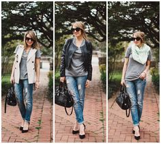 Style Within Reach: My Style: 3 Ways To Dress Up Jeans & A Tee