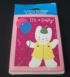 Vintage barbie party invitations happy birthday 8 count vintage vintage kitty cat birthday party invitations 8 ct pink tender thoughts balloons in home garden greeting cards party supply greeting cards m4hsunfo