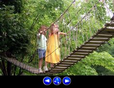 rope and wood suspension bridge a .pdf with instructions! might want to make it with cable to limit sag.