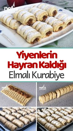 Elmalı Kurabiye Tarifi - Nefis Yemek Tarifleri - galletas - Las recetas más prácticas y fáciles Croissant Vegan, Croissant Donut, Apple Cookies, Food Platters, Arabic Food, Family Meals, Delicious Desserts, Chicken Recipes, Good Food