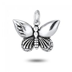Butterfly Charm in Sterling Silver (17 x 24mm)